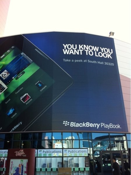 BlackBerry PlayBook presence felt in a big way at CES 2011