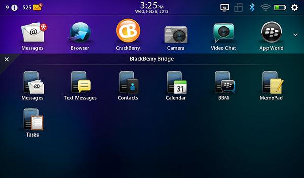 BlackBerry Bridge On BlackBerry OS
