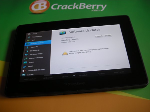 Is your BlackBerry PlayBook not able to connect to the update server?