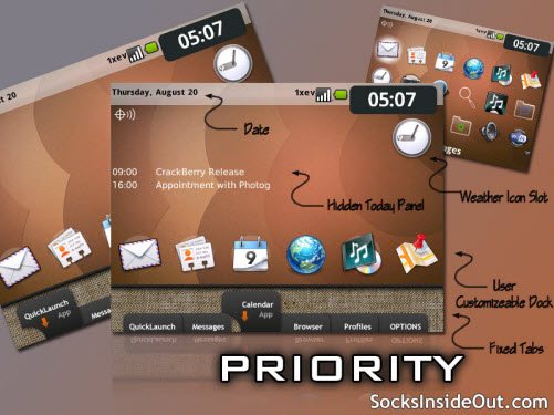 Free Priority Theme For The BlackBerry Tour 9630
