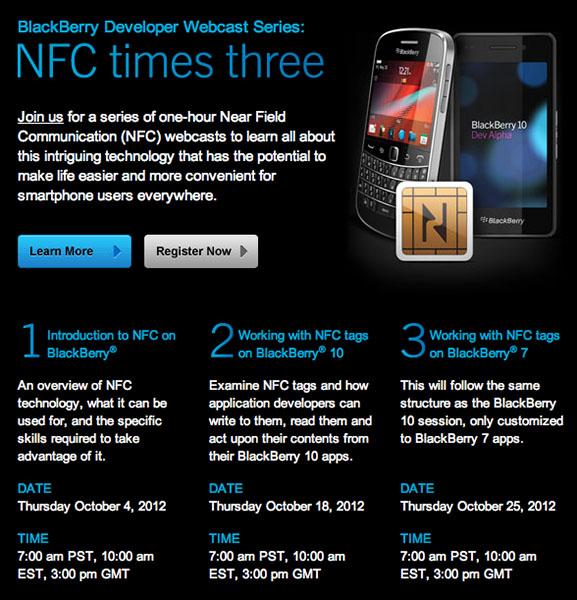 RIM NFC Webcasts
