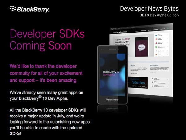 BlackBerry 10 SDK