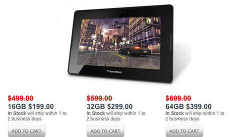BlackBerry PlayBook now being shipped direct from RIM at sale prices