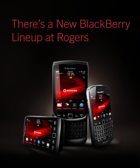 Rogers Blackberry lineup