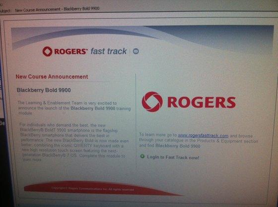 Rogers BlackBerry Bold 9900