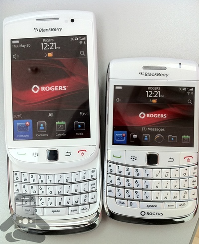 Rogers White BlackBerry Bold 9780 and BlackBerry Torch 9800