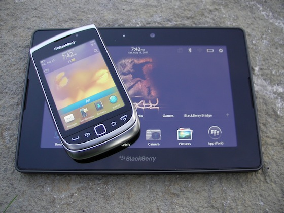 Couple the BlackBerry Torch 9810 with a PlayBook and you have a nice combo