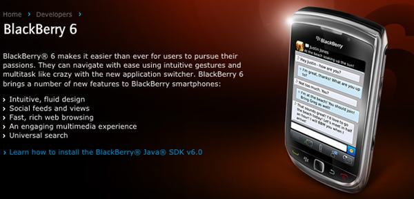 Press Release: RIM Announces Java SDK to Support New BlackBerry 6