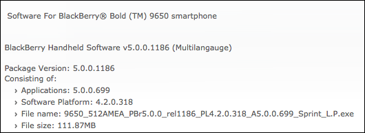 Official OS 5.0.0.699 For The BlackBerry Bold 9650 Now Available From Sprint