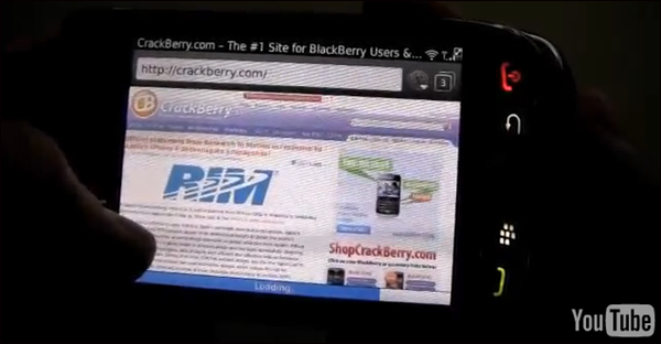 Blackberry WebKit Browser caught on video doing Android, iPhone comparison!