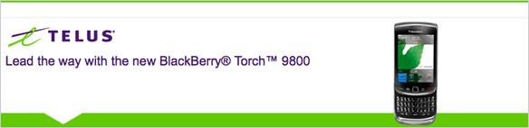 TELUS BlackBerry Torch