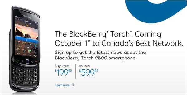 Bell BlackBerry Torch 9800