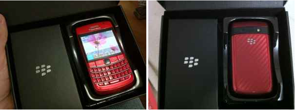 Red BlackBerry Bold 9780