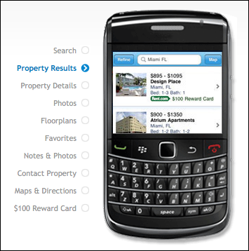 Rent.com For BlackBerry