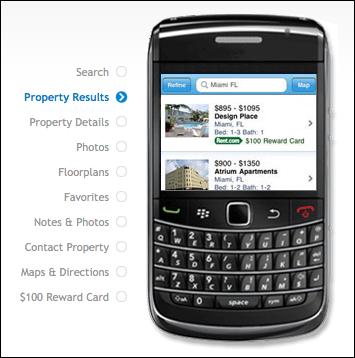 Rent.com For BlackBerry