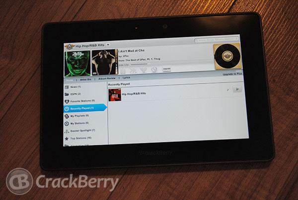 Slacker Radio for BlackBerry PlayBook