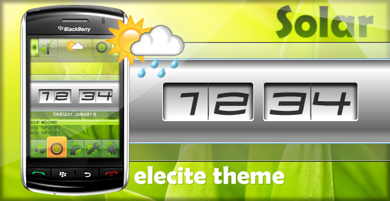 Solar- Bright New Premium Theme From Elecite
