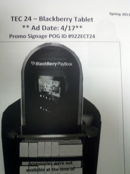 Staples BlackBerry PlayBook official release date?!