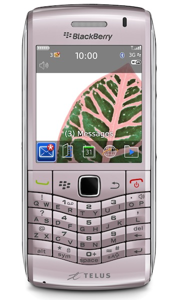 TELUS Launches Pink BlackBerry Pearl 3G, Available In Black Soon
