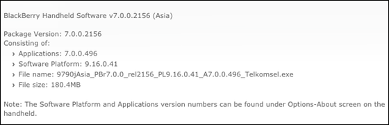 Official OS 7.0.0.496 for the BlackBerry Bold 9790 from Telkomsel