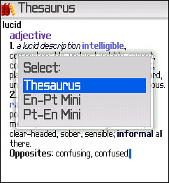 Thesaurus Applications For BlackBerry!