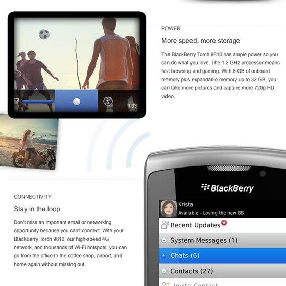 ATT BlackBerry Torch 9810