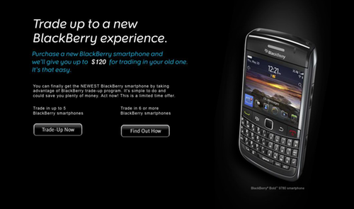 RIM introduces BlackBerry trade-up program in the US
