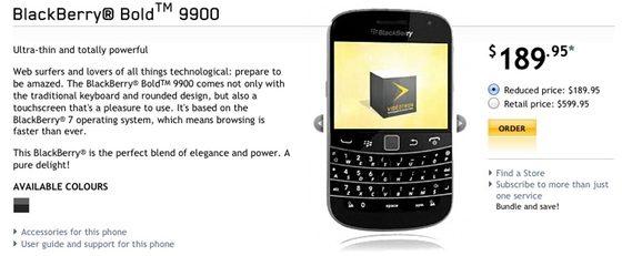 Videotron BlackBerry Bold 9900