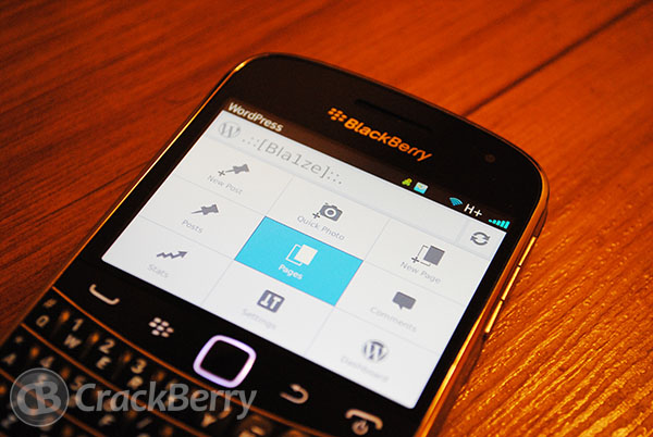 WordPress for BlackBerry updated