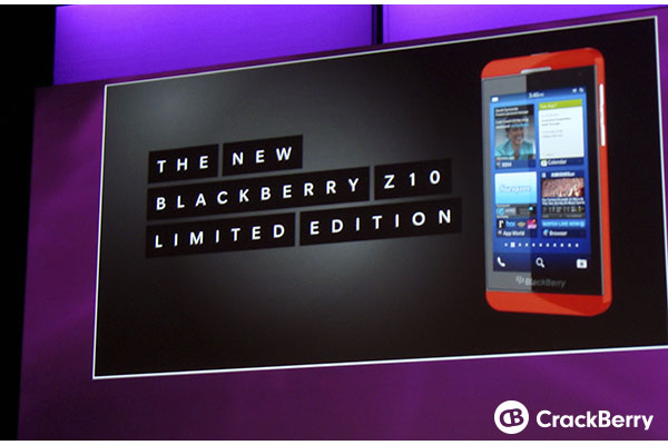 BlackBerry Z10 Limited Edition Device