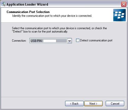 Select Communication Port!