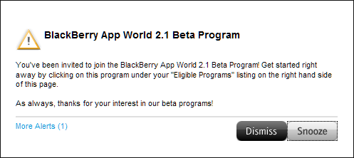 BlackBerry App World 2.1 beta now available in the BlackBerry Beta Zone
