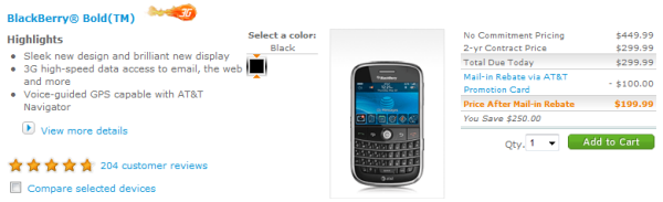 Bold And 8900 Price Cut On AT&T!