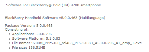 BlackBerry Bold 9700 AT&T OS Released