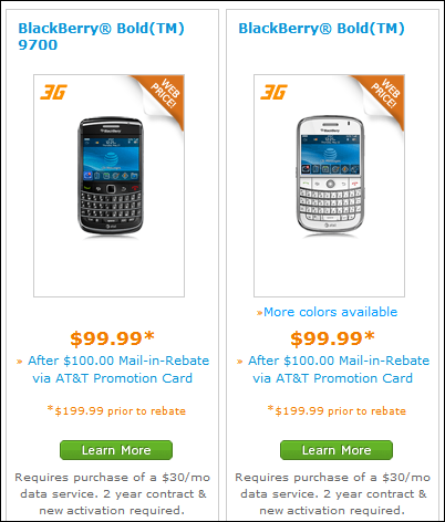 AT&T Drops Prices On All BlackBerry Smartphones
