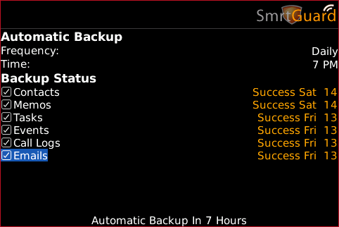 SmrtGuard BackUp Offerings!