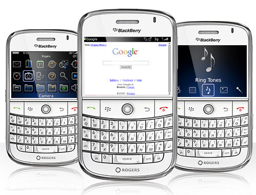 Rogers Drops Pricing Of White BlackBerry Bold To $0.99