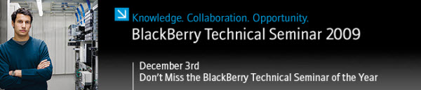 Reminder BlackBerry Technical Seminar 2009