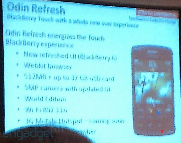 BlackBerry Storm 3 details shown off in training slide?!?