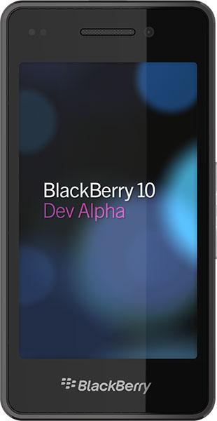 The BlackBerry 10 Dev Alpha developer testing device