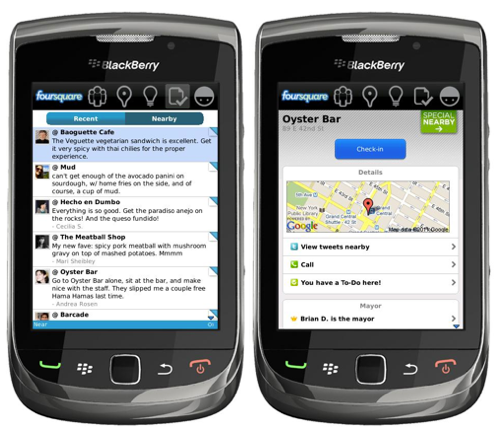 Foursquare 1.9.10 for BlackBerry now available for download