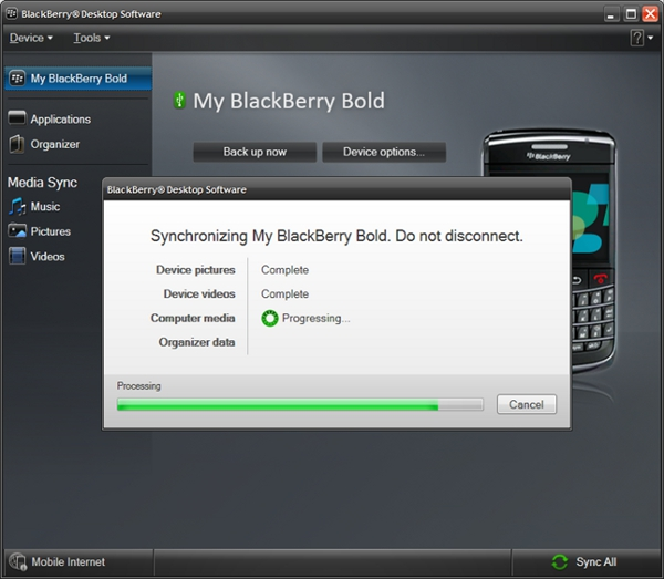 BlackBerry Desktop Manager 6 to be released in limited beta starting today!