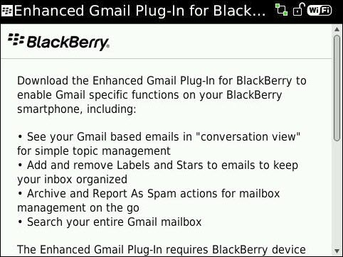 Enhanced Gmail Plugin For BlackBerry Now Available!