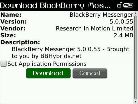 Leaked: BlackBerry Messenger 5.0.0.55