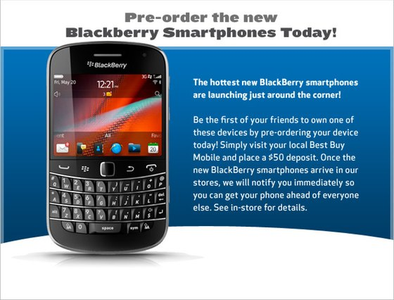 Pre-Order BlackBerry 7 devices