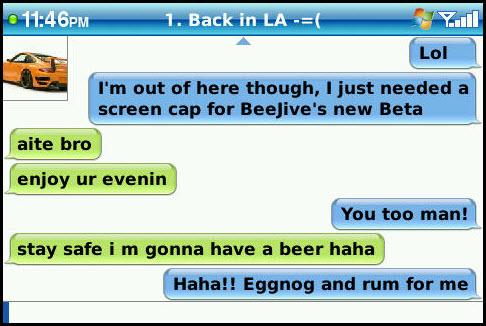 BeejiveIM For BlackBerry Beta 1.1.1 Released!