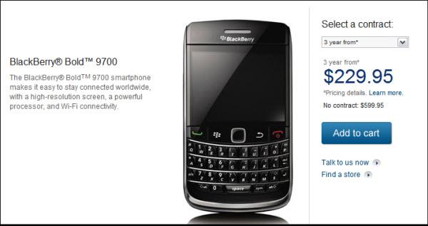 Bell BlackBerry Bold 9700