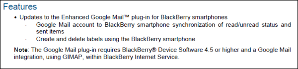 BlackBerry Internet Service 3.0 Details Leaked...Again