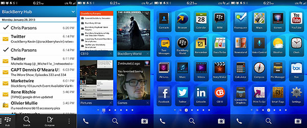 BlackBerry Z10 Homescreens