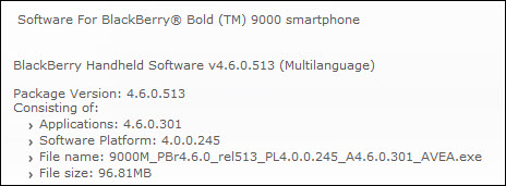 BlackBerry Bold OS 4.6.0.301 Goes Official